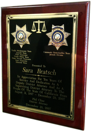 10 Years of Dedication Plaque